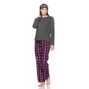 【中亚Prime会员】Tommy Hilfiger 汤米·希尔费格 女式长袖睡衣睡裤眼罩三件套