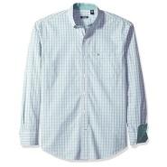 【美亚自营】IZOD Essential 男款格纹长袖衬衫