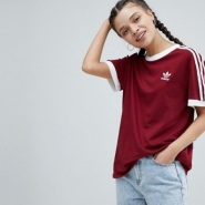 adidas Originals 阿迪达斯 adicolor 三条杠 女士休闲运动T恤