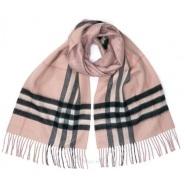 【反季囤】Burberry 博柏利 粉色格纹流苏羊毛围巾 粉红色 4040745