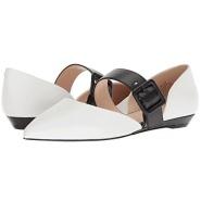 Nine West Shaloo 女款真皮黑白拼色平底鞋