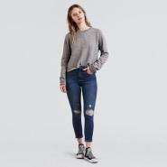 线上额外折!Levi's 李维斯 721 女士高腰修身破洞牛仔裤