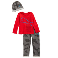 Puma Hat, T-Shirt & Sweatpants Set 童款帽子、T恤和运动裤套装