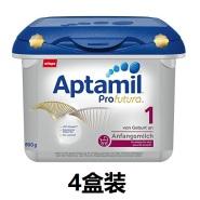 新到货!【中亚Prime会员】Aptamil 爱他美 白金版 婴儿配方奶粉 1段 800gx4盒装