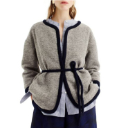 J.Crew Branford Boiled Wool Blend Jacket 女款灰色优雅外套