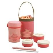 【中亚Prime会员】THERMOS 膳魔师午餐保温便当盒 珊瑚粉