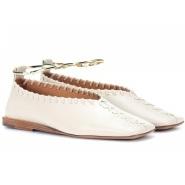 JIL SANDER 修长款 皮革芭蕾舞平底鞋