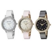 黑白粉三色好价!【美亚直邮】Anne Klein AK/2848 AK/2849 女士施华洛世奇水晶镶嵌陶瓷时尚手表