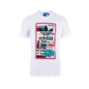 【额外8折】adidas Originals 男士印花T恤