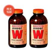 【免邮中国】小S推荐!wakamoto 健胃清肠通秘W强力活性酵素 1000片 *2瓶