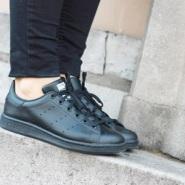 Adidas 阿迪达斯 Stan Smith 大童款休闲运动鞋 全黑