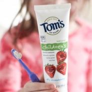 【中亚Prime会员】Tom's of Maine 儿童含氟牙膏3支装 草莓味