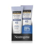 【中亚Prime会员】Neutrogena 露得清 清透防晒乳(轻盈型)SPF45 88ml*2只装