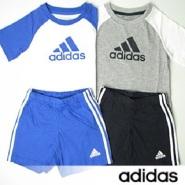 9%高返+周三支付宝支付9.5折!adidas 阿迪达斯 儿童短袖T恤&裤子套装
