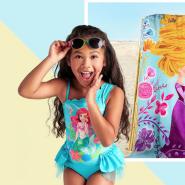 海岛度假必备!Disney 迪士尼:精选泳衣、罩衫、配件等