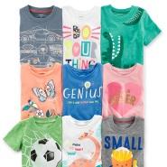 【Doorbusters】Carter's 卡特美国官网:精选儿童T恤、短裤等