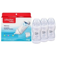 【美亚自营】Playtex 倍儿乐 VentAire 婴儿宽口防胀气奶瓶 266ml*3只装