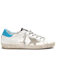 Golden Goose Super Star low-top leather trainers 女款蓝尾小脏鞋