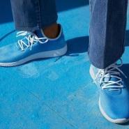 最新款降价了!Adidas Originals = Pharrell Williams Hu Holi adicolor 别注系列休闲鞋 蓝色