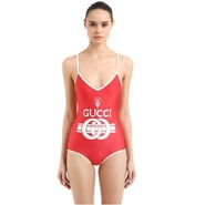 GUCCI 18年最新款印花连体泳衣