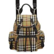 Burberry Yellow Small Heritage Check Backpack 小号经典格纹背包