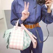新木优子 同款 LOEWE Hammock格纹手提包