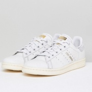 Adidas Originals 三叶草 Off White Stan Smith 女士运动鞋