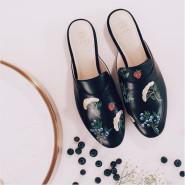 【新人9折】买贵的不如买特别的!Moda Operandi:精选 小众 Alepel 手工画穆勒鞋