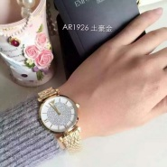 【首单8.5折】Emporio Armani 爱姆普里奥·阿玛尼 AR1926 白色水晶装饰女士时尚腕表