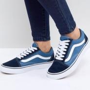 免费直邮中国!Vans 范斯 Classic Old Skool 蓝色运动鞋