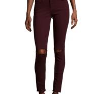 Frame 膝盖破洞超显瘦牛仔裤