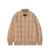 【反向海淘】今年大火的 BURBERRY 18年新款格纹纯棉斜纹布飞行员夹克