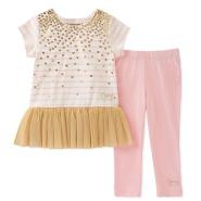 【美亚自营】Juicy Couture 橘滋 女童T恤+长裤两件套