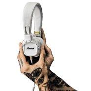 【中亚Prime会员】Marshall 马歇尔 Major II 白色头戴式摇滚重低音监听耳机