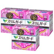 热销单品!【日本亚马逊】花王 乐而雅 超薄日用卫生巾 19片*3包