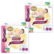 【日本亚马逊】大王 棉花糖系列环贴式纸尿裤 S号 76片*2包