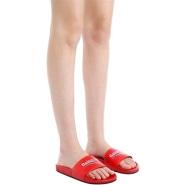 【新款】BALENCIAGA 标识印花皮革拖鞋