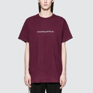"做特立独行的你 法国潮牌 Fuck Art,Make Tees ""Everything Will Be Ok"" Slogan T恤"