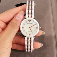 Emporio Armani 爱姆普里奥·阿玛尼 AR1489 象牙白优雅陶瓷女士腕表