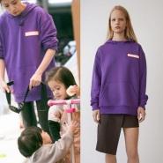【贾静雯妈妈是超人同款】Acne Studios Fog purple 棉质带帽卫衣