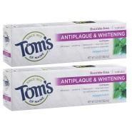 【美亚直邮】 Tom's of Maine 预防牙菌斑无氟美白牙膏 156g*2