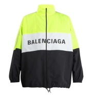 陆续断码中~BALENCIAGA Logo-print technical jacket 男款拼色夹克