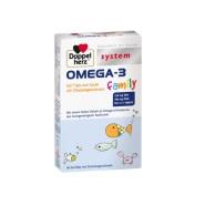 【立减5欧+免邮中国】Doppelherz 双心 Omega-3 儿童深海鱼油咀嚼片 4岁+ 60片