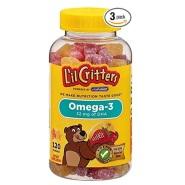 【美亚直邮】L'il Critters Omega-3 DHA 儿童鱼油水果软糖 120粒*3瓶