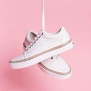 Vans Cream Old Skool 女款奶白色帆布鞋