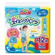 立减300日元!【日本亚马逊】GOO.N 大王 游泳专用纸尿裤 L号