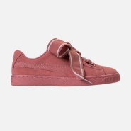 彪马 女士 WOMEN'S PUMA SUEDE HEART SATIN CASUAL SHOES 运动鞋