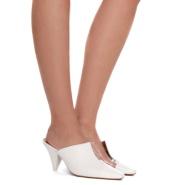 新款倒三角设计 NEOUS 拼接皮革有机塑胶穆勒鞋