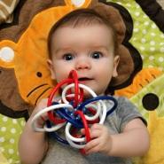 新配色!【中亚Prime会员】Manhattan Toy 曼哈顿玩具 Winkel 宝宝牙胶磨牙器手抓球玩具