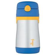 【中亚Prime会员】Thermos 膳魔师 Foogo 不锈钢吸管杯 300ml 蓝黄色